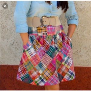 🌸CAbi patchwork Madras plaid skirt adorbs!!🌸